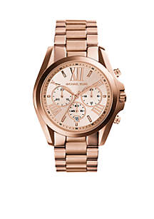 Women's Rose Gold-Tone Stainless Steel Oversized Bradshaw Watch