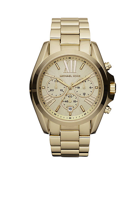 Michael Kors Mid-Size Gold-Tone Stainless Steel Bradshaw