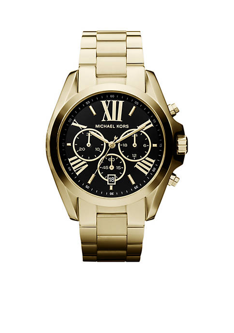 Michael Kors Mid-Size Gold Tone Stainless Steel Bradshaw