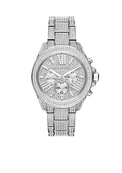 Michael Kors Womens Wren Stainless Steel Chronograph Watch