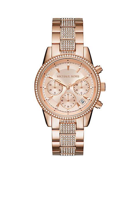 Rose Gold-Tone Ritz Watch