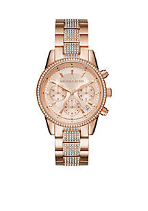 Rose Gold-Tone Ritz Watch