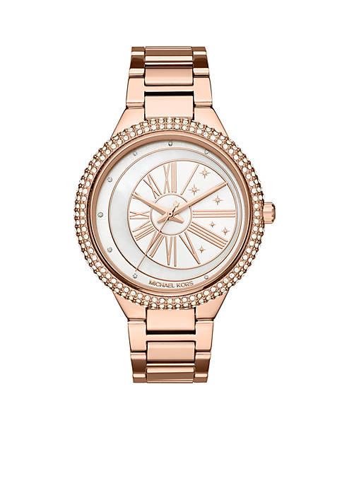 Michael Kors Womens Rose Gold-Tone Taryn Watch