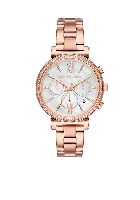 Michael Kors Rose Gold-Tone Sofie Watch