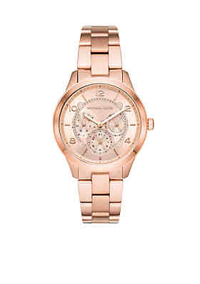 20ff486fb Michael Kors Runway Chronograph Rose Gold-Tone Stainless Steel Watch ...