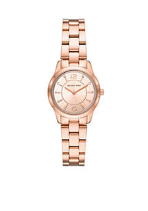 Runway Three-Hand Rose Gold-Tone Stainless Steel Watch