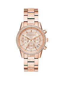 Rose Gold-Tone Ritz Frosted Watch