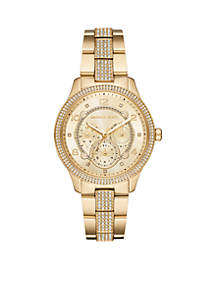 Runway Multi-Function Gold-Tone Stainless Steel Watch