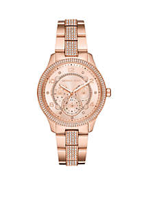 Runway Multi-Function Rose Gold-Tone Stainless Steel Watch
