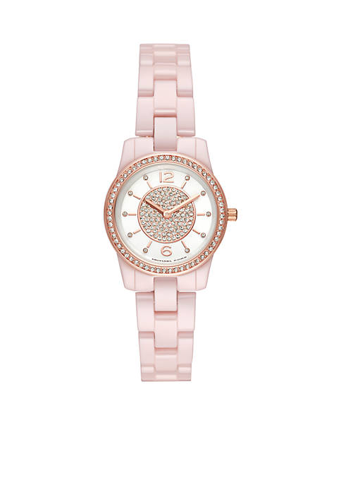 Michael Kors Runway Two-Hand Pale Pink Ceramic Watch