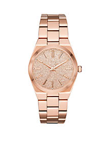 Channing Three-Hand Rose Gold-Tone Stainless Steel Watch