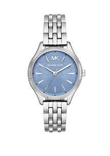 Michael Kors Lexington 3 Hand Stainless Steel Watch