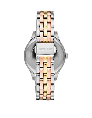 8148604f8733 ... Michael Kors Lexington 3 Hand Tr Tone Stainless Steel Watch