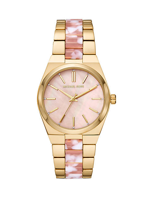 Michael Kors Channing 3 Hand 2 Tone Stainless
