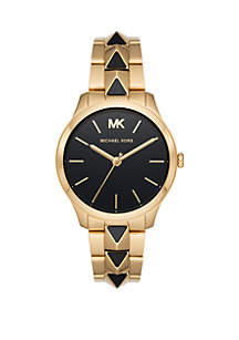 Michael Kors Runway 3 Hand 2 Tone Stainless Steel Watch