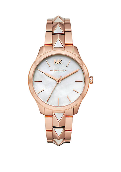 Michael Kors 3 Hand Rose Hold Tone Stainless