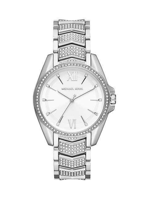 Michael Kors Silver Tone Stainless Steel Whitney 3