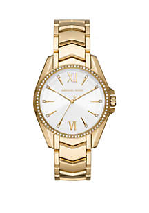 Michael Kors Gold Tone Stainless Steel Whitney 3 Hand Watch