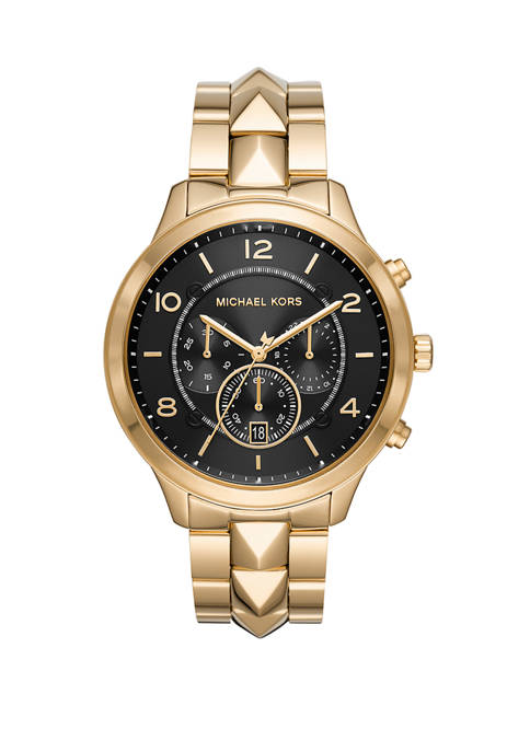 Michael Kors Womens Runway Mercer Chronograph Gold Tone