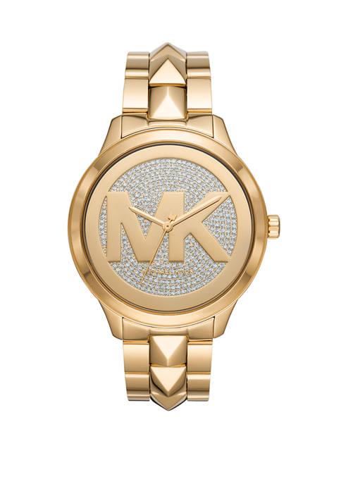 Michael Kors Womens Runway Mercer Three Hand Gold