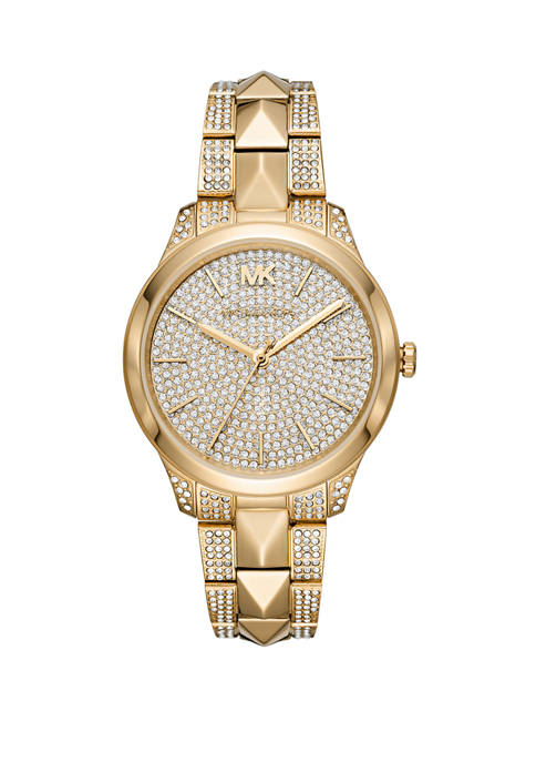 Michael Kors Womens Runway Mercer Three Hand Gold