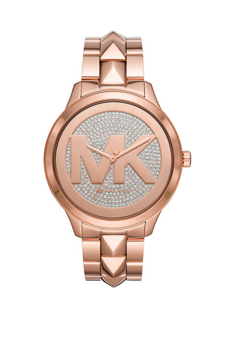 Michael Kors Runway Mercer Three Hand Rose Gold