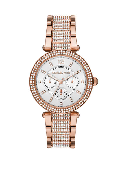 Michael Kors Parker Multifunction Rose Gold-Tone Stainless Steel