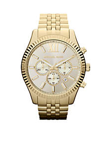 Men's Gold-Tone Stainless Steel Lexington Chronograph Watch
