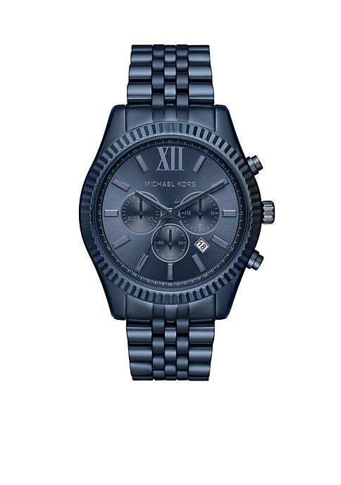 Michael Kors Mens Lexington Blue Stainless Steel Watch