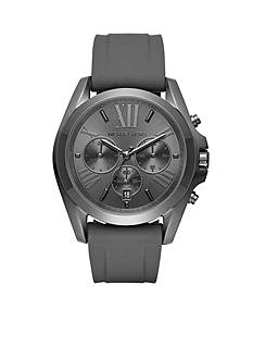 Michael Kors Bradshaw Black IP and Black Silicone Chronograph Watch