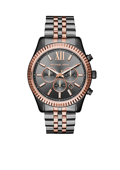 Michael Kors Mens Lexington Two-Tone Chronograph Watch