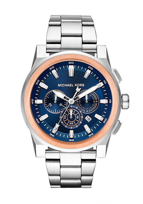 Michael Kors Mens Two-Tone Stainless Steel Grayson Chronograph