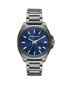 Bryson Three-Hand Gunmetal Stainless Steel Watch