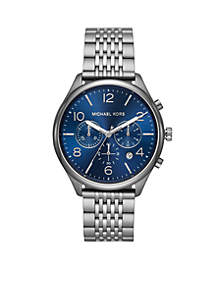 Michael Kors Merrick Chronograph Gunmetal Stainless Steel Watch