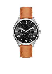 Merrick Chronograph Brown Leather Watch