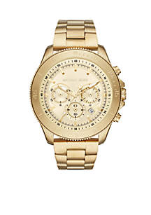 Theroux Chronograph Gold-Tone Stainless Steel Watch
