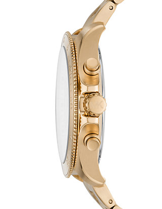 8a9aa01b1744 ... Michael Kors Theroux Chronograph Gold-Tone Stainless Steel Watch