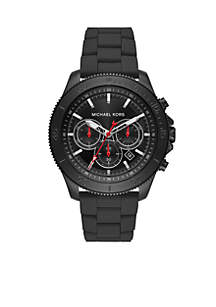 Theroux Chronograph Black Stainless Steel Watch