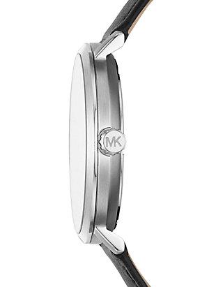 a3249fac4016 ... Michael Kors Mens Blake Three Hand Black Leather Watch