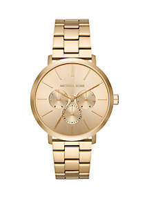 Michael Kors Gold Tone Stainless Steel Blake Multifunction Watch