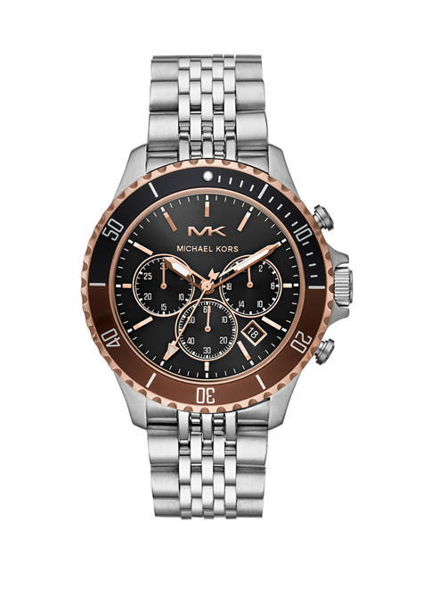 Michael Kors Mens Bayville Chronograph Stainless Steel Watch