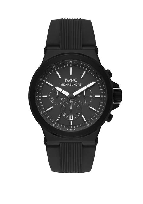 Mens Dylan Chronograph Matte Black Silicone Watch