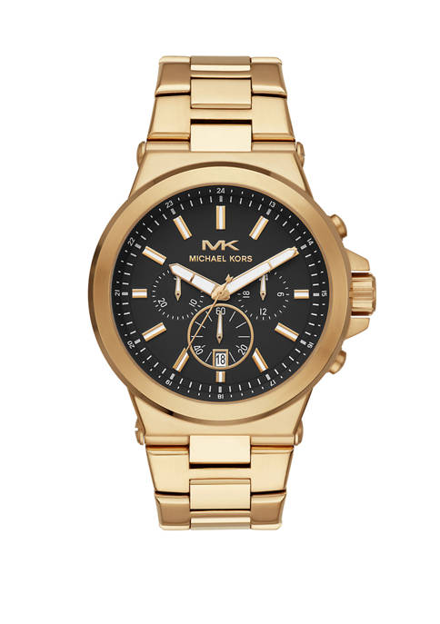Michael Kors Mens Dylan Chronograph Gold-Tone Stainless Steel