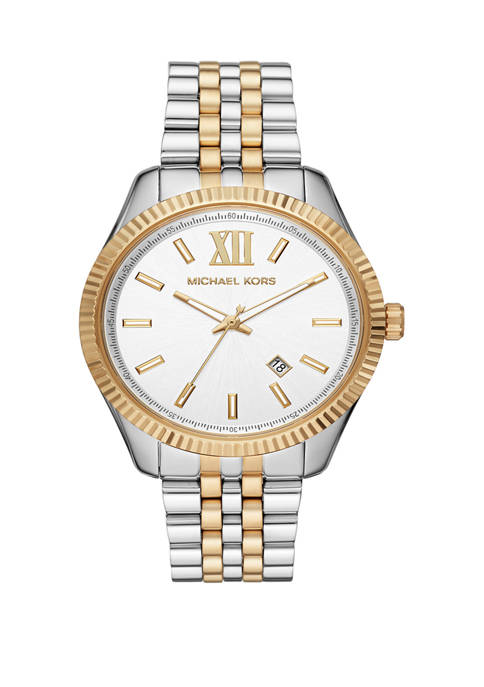 Michael Kors Mens Lexington Three Hand Two Tone