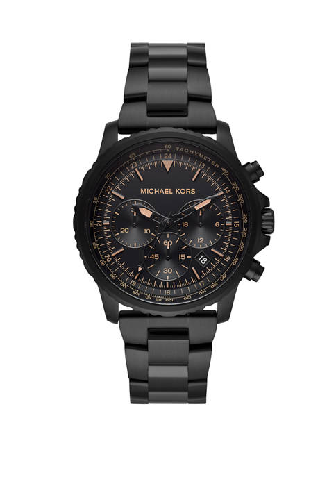 Michael Kors Theroux Chronograph IP Stainless Steel Watch