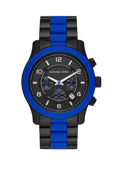 Michael Kors Runway Chronograph Black IP Stainless Steel