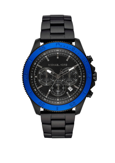Michael Kors Mens Theroux Chronograph Black Stainless Steel