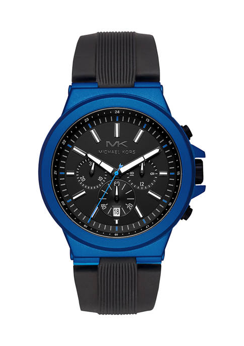 Michael Kors Dylan Chronograph Black Silicone Watch