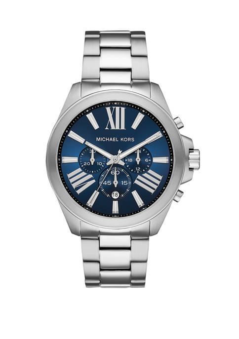 Michael Kors Mens Wren Chronograph Stainless Steel Watch