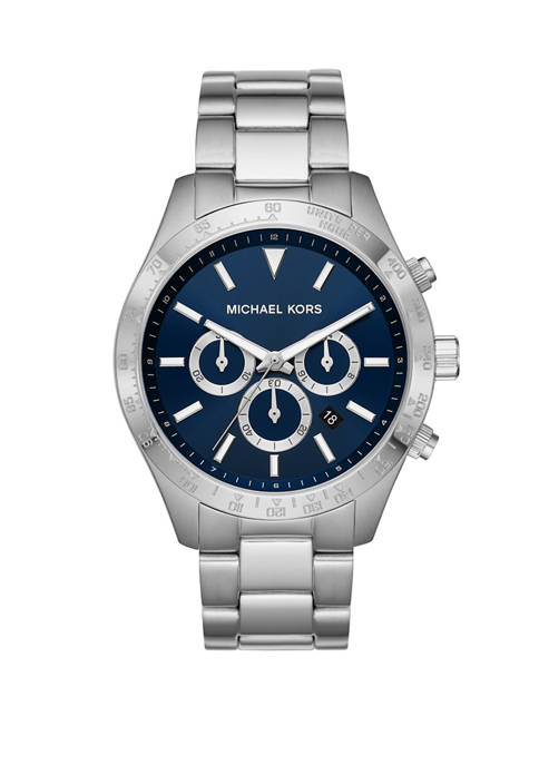 Michael Kors Mens Layton Chronograph Stainless Steel Watch